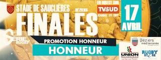 [Live TVSUD] Matchs de Rugby, Les Finales : Honneur et Promotion Honneur
