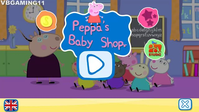 Peppa Pig Baby Shop - Sells Toys, Foods, Fruits, Vegetables, Horses and Dinosaurs Kids Gameplay 2016