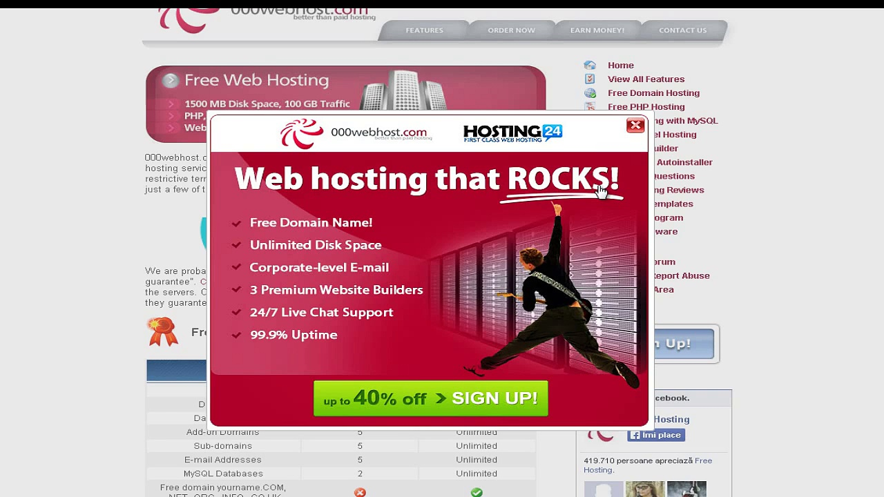Free Website Builder,Free Free Domain Hosting,Free PHP Hosting and Make money online