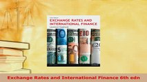PDF  Exchange Rates and International Finance 6th edn Download Online
