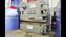 175 Ton x 10 'Se utiliza Bertsch hidráulica CNC Prensa plegadora, MDL. 175-10, Hurco Autobend 5C, Control de 2 ejes CNC, Control de Palm dual sobre Ram, pedal del pie, # A4199