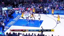 LeBron James Gets Hit With a Technical Foul   Cavaliers vs Knicks   March 26, 2016   NBA 2015-16