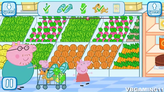Peppa Pig in the Supermarket - Kids Gameplay 2016