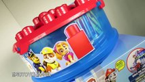 NEW Paw Patrol Lego Style IONIX JR Set with Paw Patrol Look Out and Marshalls Fire Truck