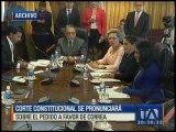 Corte Constitucional se pronunciará sobre pedido a favor de Rafael Correa