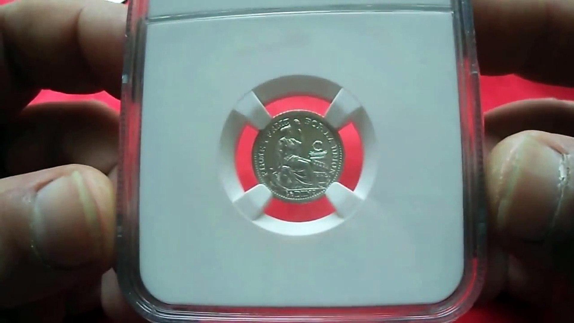 Baby :) PERU 1/2 DINERO 1916 MS - 65 (Перу 1916 1/2 Динейро MS - 65 Серебро)