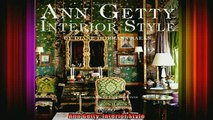 Download  Ann Getty Interior Style Full EBook Free