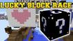 Minecraft PopularMMOs: PAT AND JEN EXTREME BLACK LUCKY BLOCK RACE - Lucky Block Mod