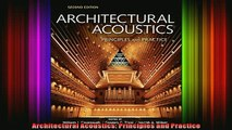 Read  Architectural Acoustics Principles and Practice  Full EBook