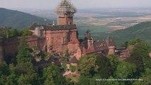 Prises de vues aeriennes Cineflex HD - le moulin du Haut Koenigsbourg