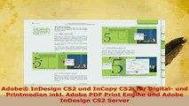Download  Adobe InDesign CS2 und InCopy CS2 für Digital und Printmedien inkl Adobe PDF Print  Read Online