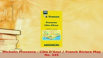 PDF  Michelin Provence  Côte DAzur  French Riviera Map No 245 Read Online