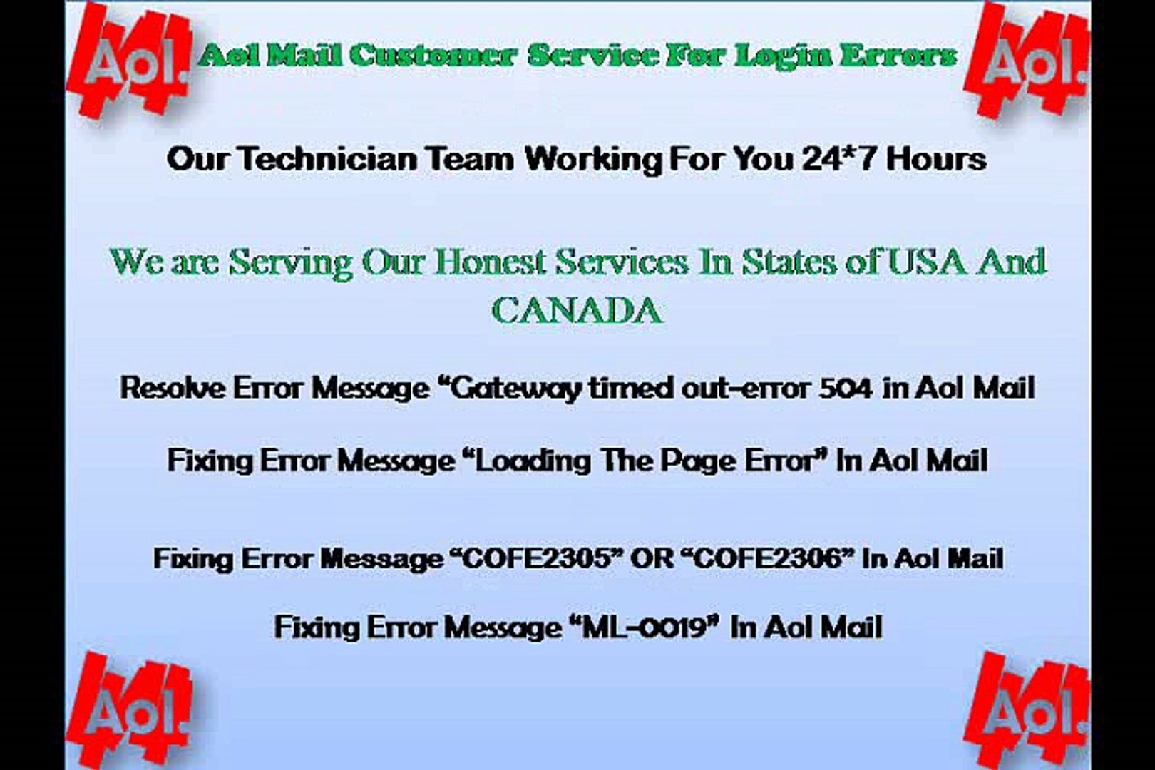 Aol Mail Customer Support For Login Issues