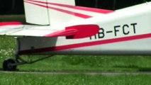 Air Glacier, Pilatus PC-6, HB-FCT, take-off from Yverdon