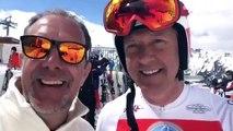 SPORTS-TV-Anchorman Guido Heuber (Eurosport) with Chef Martin Sieberer (Trofana Royal)