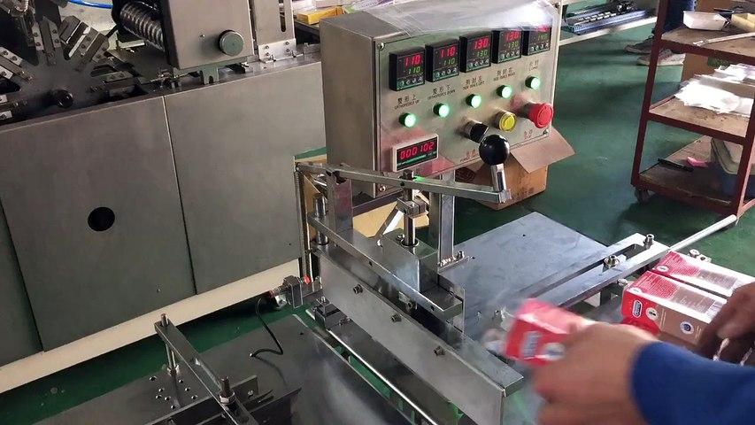 máy bọc màng trong suốt có chỉ xé, máy bọc màng POBB, máy bọc màng hộp mỹ phẩm, dầu gió | Godialy.com