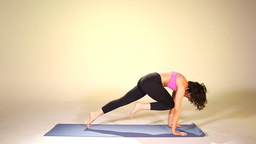How to transition from Downward Facing Dog to High Lunge (Adho Mukha Svanasana to Anjaneyasana), Yoga