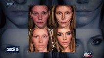 La force du maquillage et de la coiffure avant/après