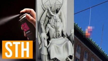 Portland's Sex Toy Fairy, Detroit's Satan Statue, Spray-On Condom!