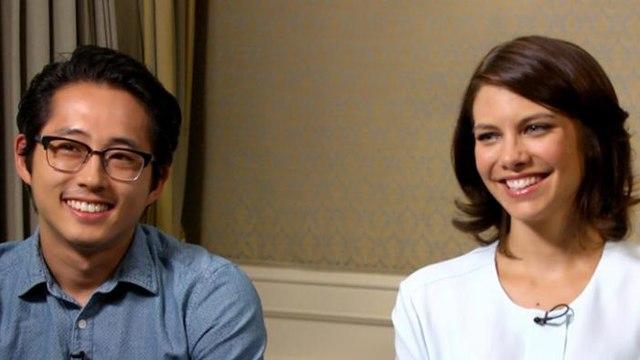 The Walking Dead: Steven Yeun and Lauren Cohan