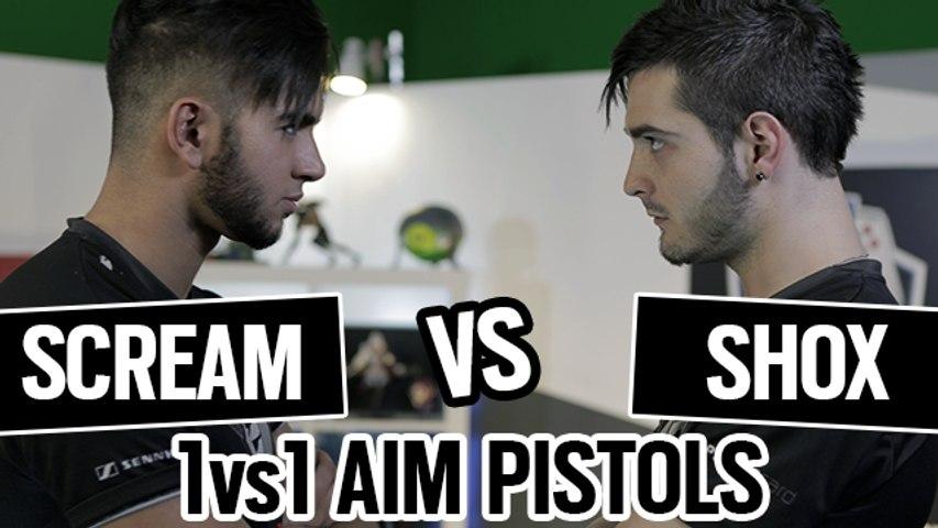 SHOX vs SCREAM 1vs1 AIM PISTOLS CSGO [ENGLISH SUB]