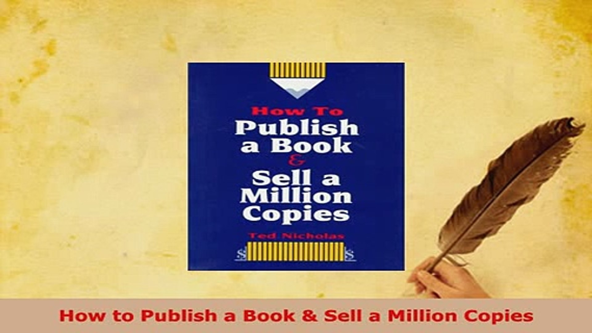 PDF How to Publish a Book Sell a Million Copies Free Books