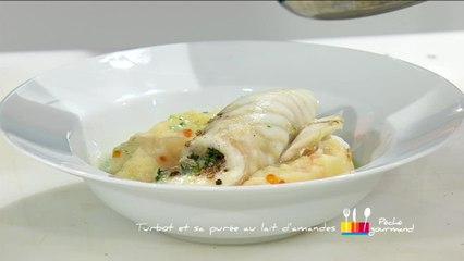 Recette Anne Alassane : poisson en cornes de bélier et sa purée, sauce au lait d'amandes