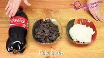 Así puedes hacer una torta con la forma de una botella de Coca Cola