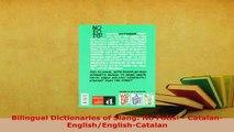PDF  Bilingual Dictionaries of Slang No Fotis  CatalanEnglishEnglishCatalan Download Full Ebook