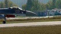 SU-35 fighter jet vertical takeoff 2016