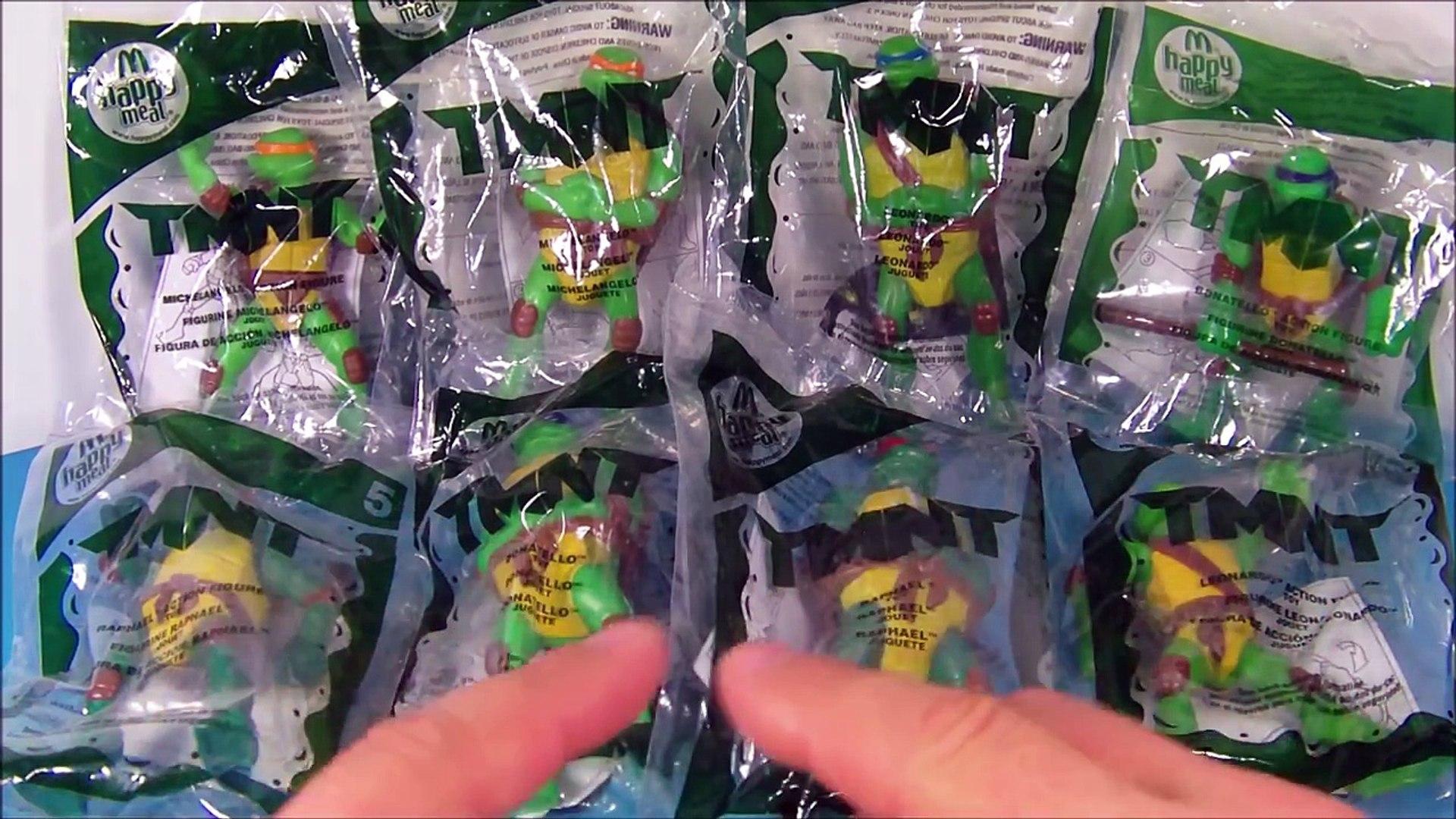2007 Teenage Mutant Ninja Turtles Set Of 8 Mcdonalds Happy Meal Kids Toys Video Review 動画 Dailymotion