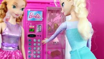 Elsa PRANKS Hans Disney Princess Anna Barbie Parody Video Shopkins Barbie Vending Machine MLP Toys