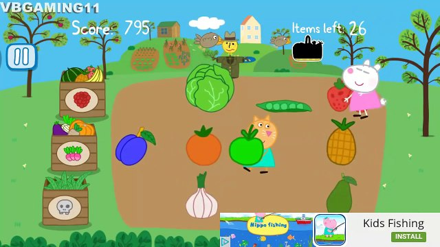 Peppa's Pig Garden -  Grow Fruits and Vegetables Kids Gameplay 2016