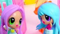 Sleep Over with Kawaii Crush BFFs Dolls and My Little Pony Applejack POP MLP - Toy Play Video