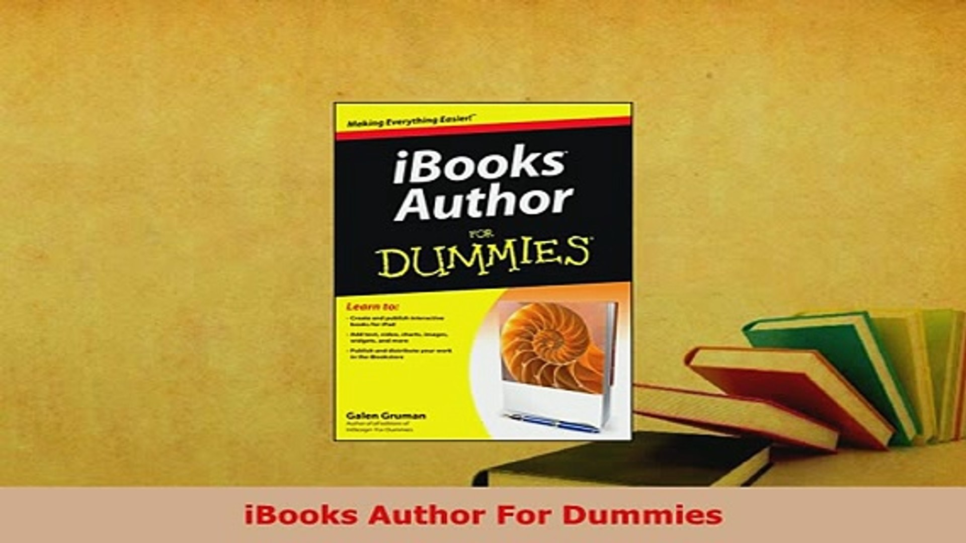 Download iBooks Author For Dummies EBook
