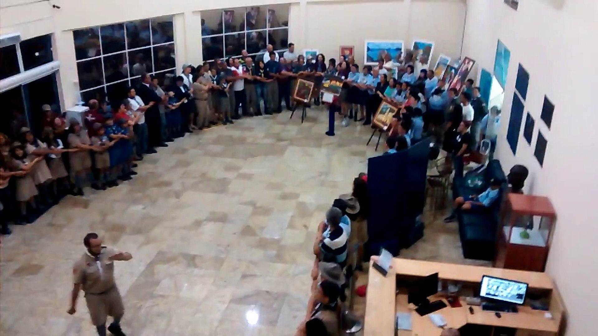 Canção da Despedida - Dia do Escoteiro na Câmara de Taubaté