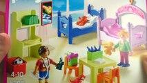 Aménager la maison de Playmobil | Chambre denfants multicolore et salle de bain romantiqu