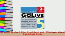 Download  Adobe GoLive 5 for Macintosh and  Windows Visual QuickStart Guide  EBook