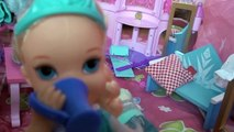 Anna and Elsa Snow Holiday Part 1 Olaf Toddlers Meet Snow Seal Disney Frozen Snowboarding Slide Fun