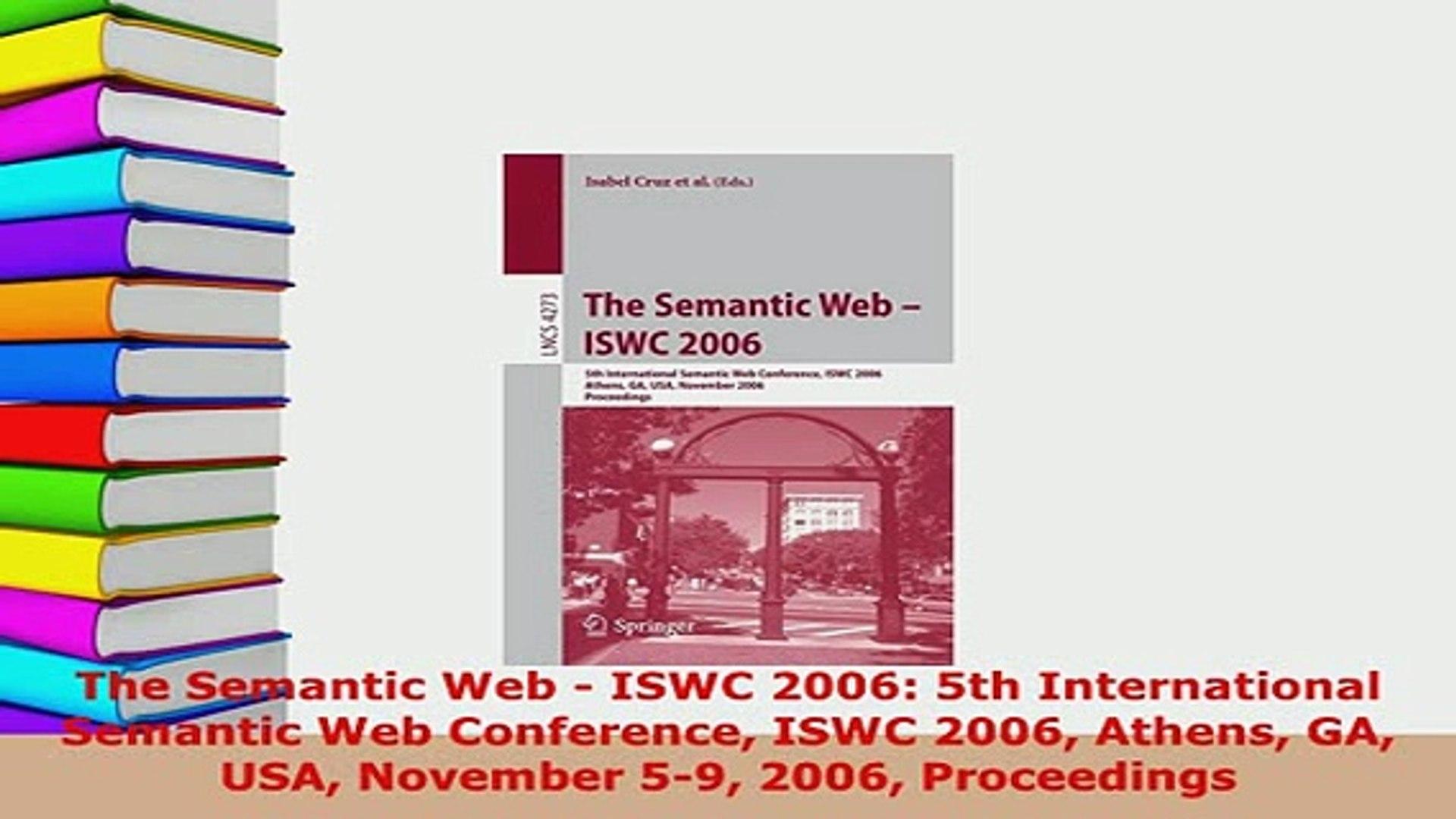 PDF  The Semantic Web  ISWC 2006 5th International Semantic Web Conference ISWC 2006 Athens  EBook