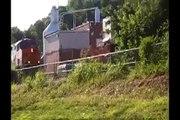 BNSF unit coal train eastbound Parkville, Missouri 6/29/08 pt. 1 (of 3)