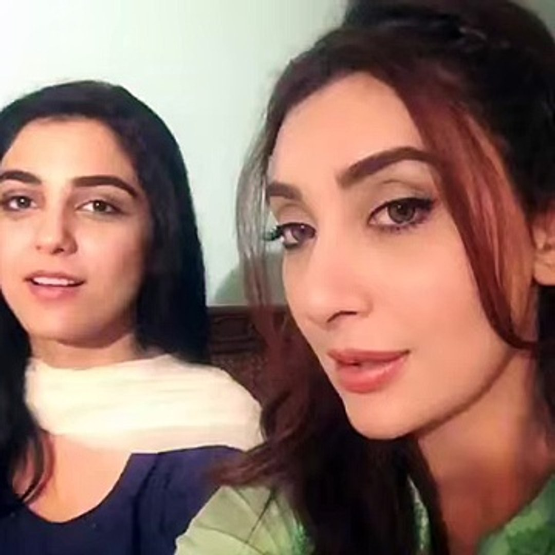 Ayesha Khan and Maya Ali Together Singing Man Mayal Theme Song Hum tv Man Mayal 12 episode full top