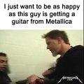 Quand James Hetfield de Metallica t'offre sa guitare... Plus beau jour de la vie d'un rockeur