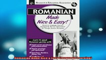 FREE PDF  Romanian Made Nice  Easy Language Learning READ ONLINE