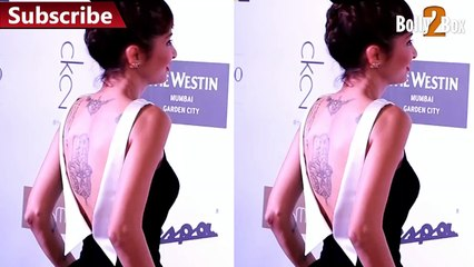 Model Exposing her back at Grazia Young Fashion Awards 2016.