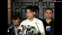 Nisar says no agreement made with Islamabad protester 30 March 2016