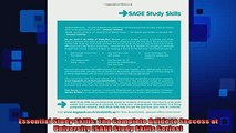 Free PDF Downlaod  Essential Study Skills The Complete Guide to Success at University SAGE Study Skills  DOWNLOAD ONLINE