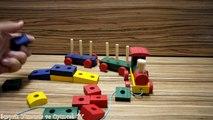 Ahşap Tren Oyuncak Seti - Ahşap Bloklar ile Eğlenceli Ahşap Tren Oyuncakları