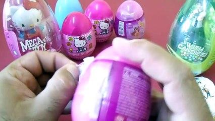 30 Sürpriz Yumurta Açma  Ben10, Hello Kitty ve Disney Oyuncak Yumurtalar