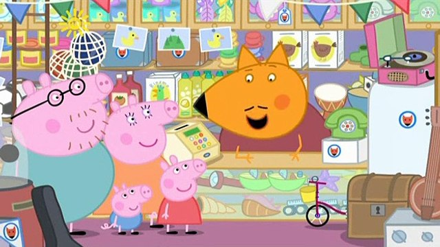 Peppa Pig. Mr Fox's Shop. Mummy Pig and Daddy Pig and George Pig